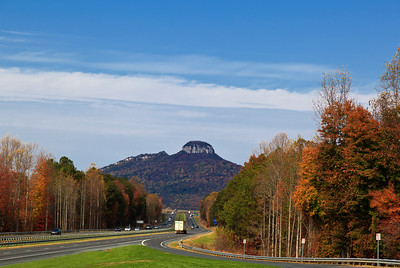 View of Pilot Mountain from the overlook on Highway 52