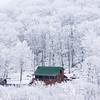 Cabin in Rime Ice