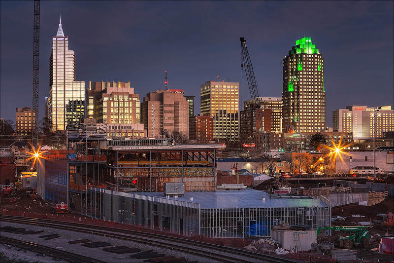 Downtown Raleigh at dusk