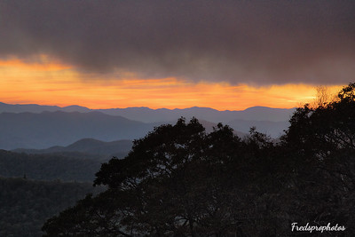 Sunset Cowee Mtn Overlook NC 2017  - -7