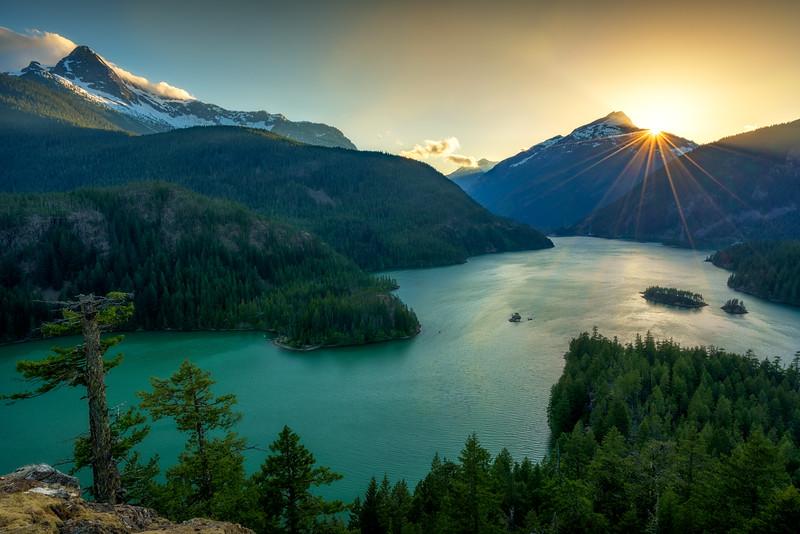 Diablo Lake Sunset