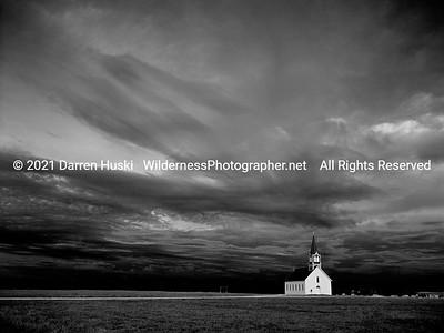 The Old Rock Church at dawn.
