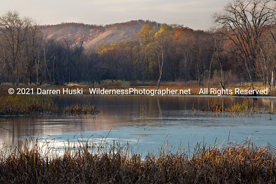 Late fall in a marsh slough.  The colors are fading fast and the nights are getting cold.  soon it will be winter.