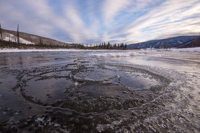 Puzzle-piece ice, Klondike River