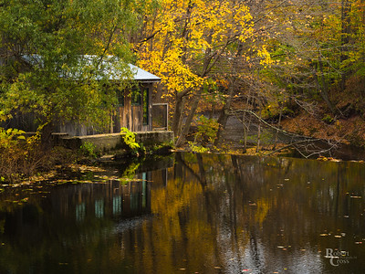 Autumn Reflections at a Massachusetts Mill