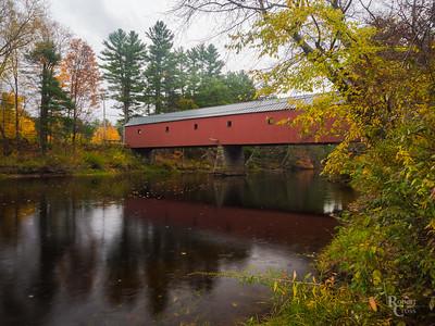 Autumn Bridge in the Rain
