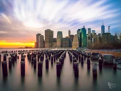 Manhattan Sunset Swirl