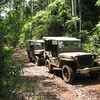 Quick stop in the rainforest. It might have been New Guinea 1942!
