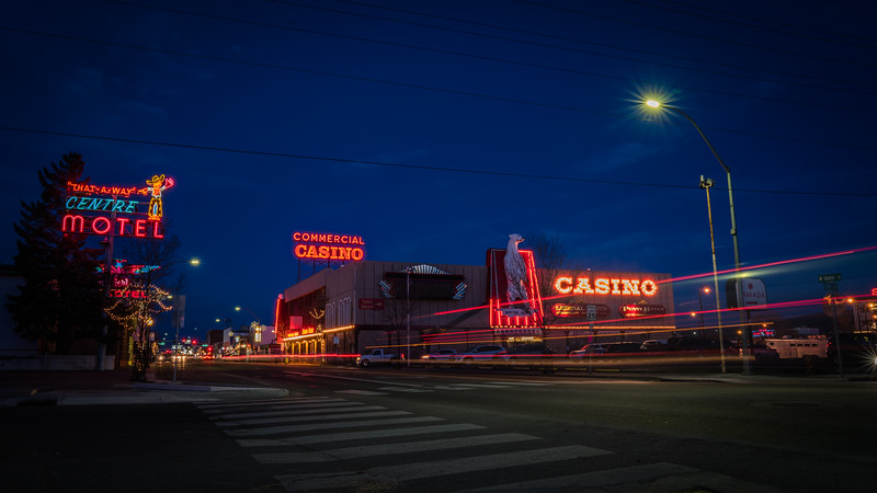 Downtown Elko by Night