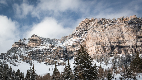 Little Cottonwood Canyon, Utah. A day early on in spring where winter is still holding on. A fresh snow just brushing the mountain tops a few days prior.