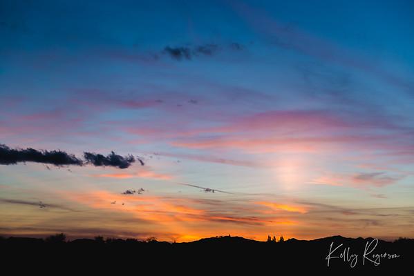 Beautiful Sunset Captured By Chance
