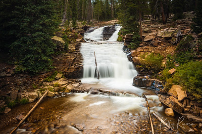 Upper Provo Falls, just before fall seasons arrives in the Uintah Mountains, northern Utah. This was the perfect time to visit, I had the entire falls area to myself!