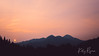 The red sun at sunset looking west from American Fork Canyon on the Alpine Loop