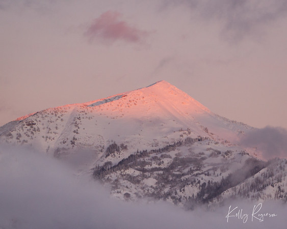 Box Elder Peak, just as the sun says goodnight for the day.