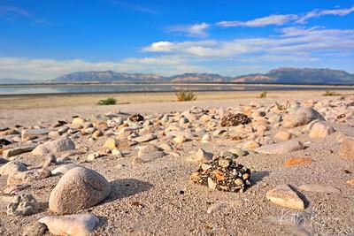 Beach at Great Salt Lake, Utah