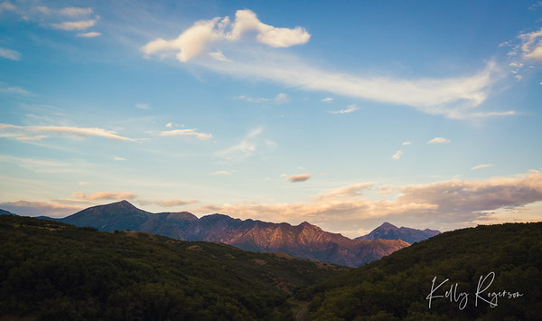 The last of the daylight hitting the gorgeous Utah Wasatch Mountains.