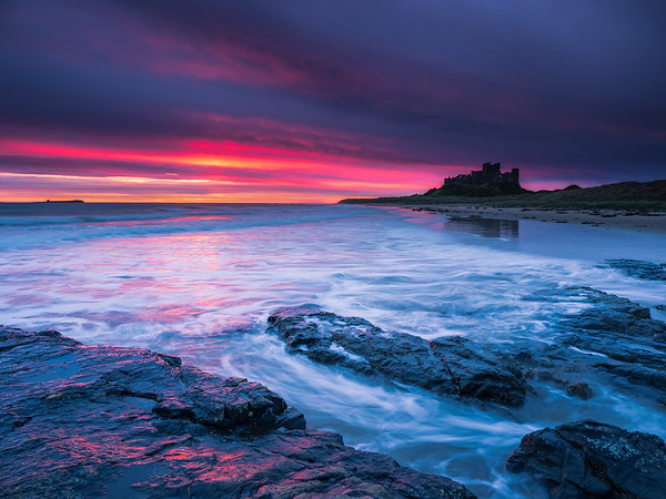 Bamburgh Rock Sunrise