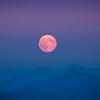 Blood Moonrise Over North Cascades