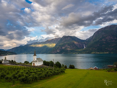 Lustrafjorden Late in the Day