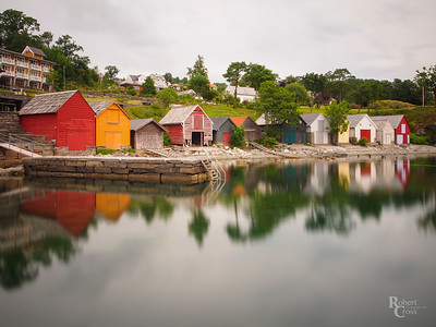 Reflections along a Norwegian fjord