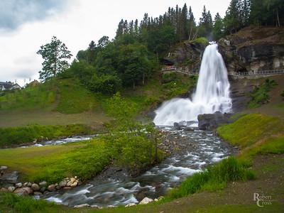 Falling Water in Fjord Norway
