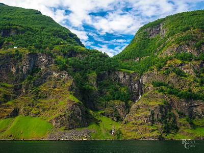Waterfalls in the Aurlandsfjord