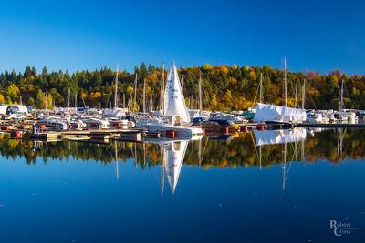 Autumn Reflections on the Oslofjord