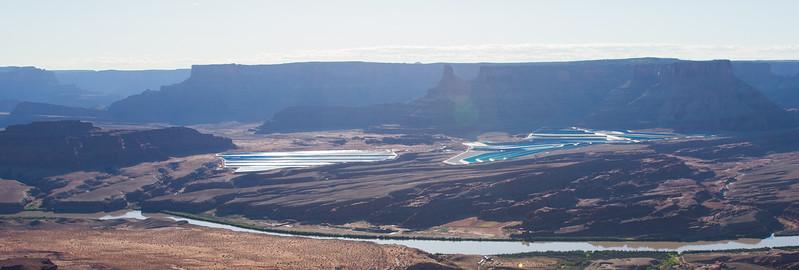 Potash Evaporation Ponds along the Colorado River
