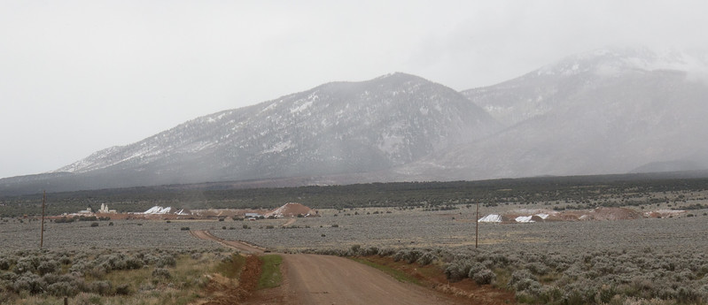 Mine Tailings near the La Sal Mountains
