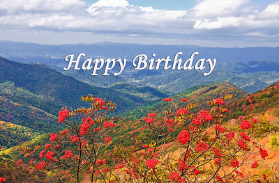Birthday Cards jillwlang – Mountain Birthday Cards
