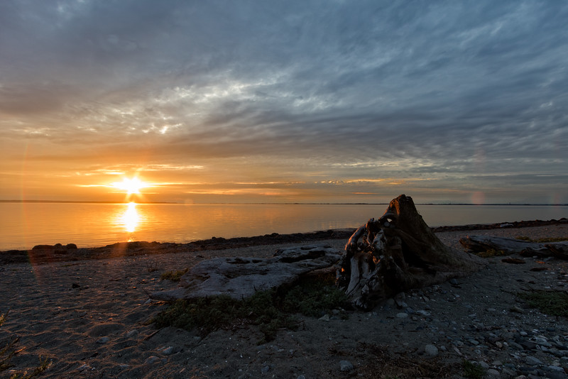 Crescent Beach Sunset Starburst
