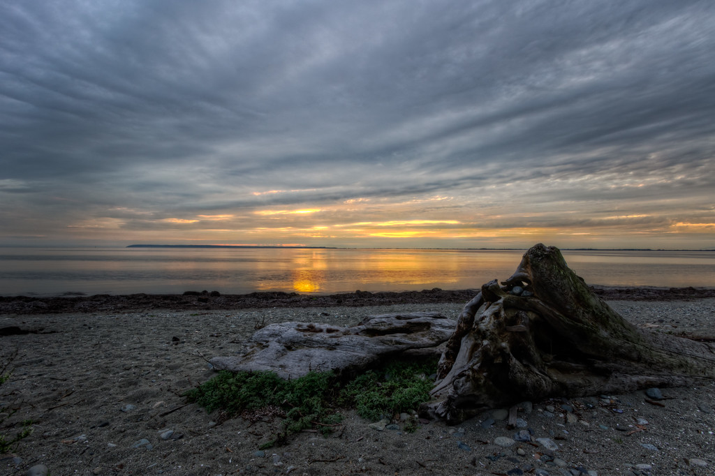Crescent Beach Sunset HDR