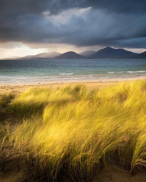 Rain on Harris Hills, Outer Hebrides, Scotland