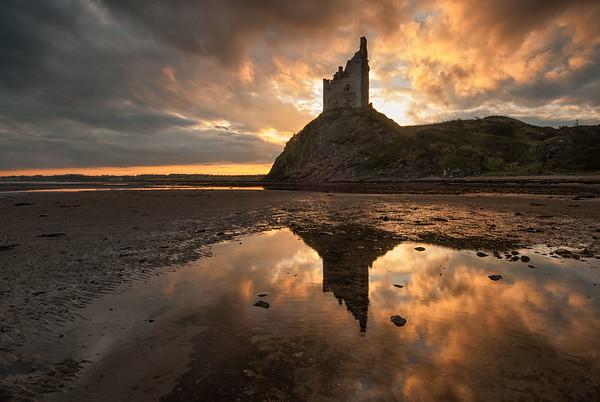 Greenan Castle sunrise, Ayrshire, Scotland