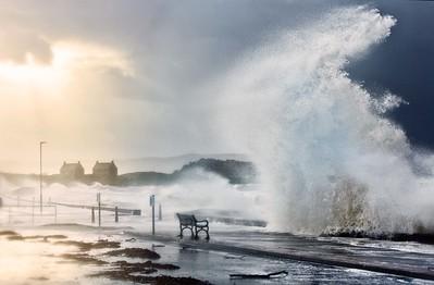 Winter storm, Ayrshire, Scotland