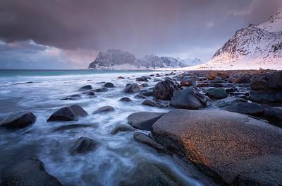 Uttakleiv sunset, Lofoten Islands