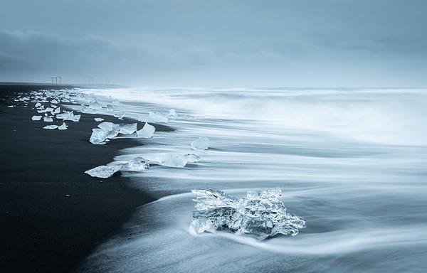 Glacial beach, Jokulsarlon, Iceland