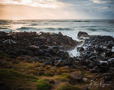 Yachats, Oregon - sunset along the Oregon coast October 2019.