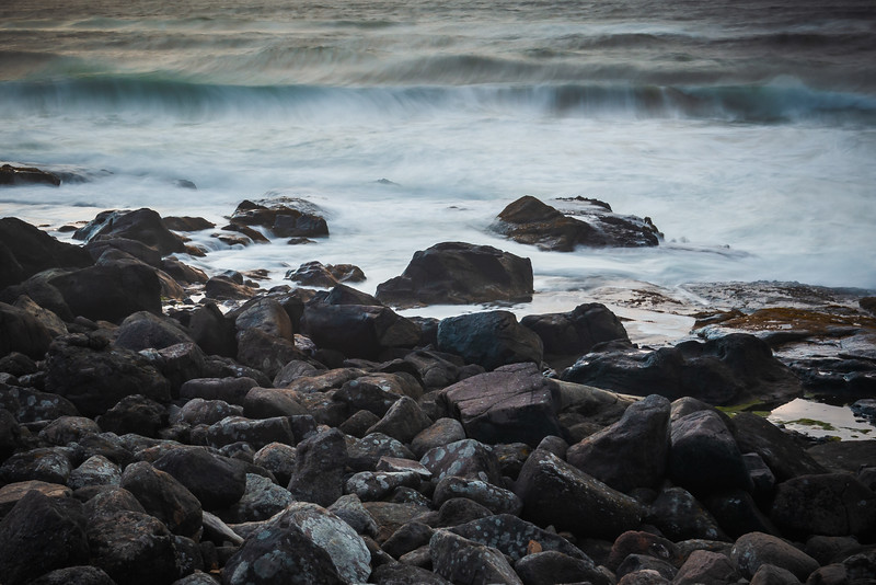 Another evening in Yachats, enjoying the waves as they crash into the rocky shore.