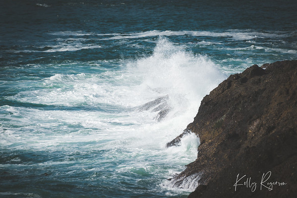 Deep Blue Crashing Waves