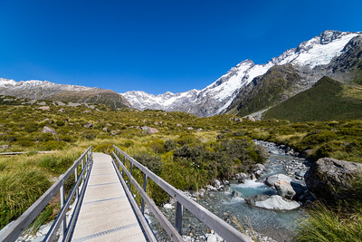 Hooker Valley track, Aoraki Mt. Cook National Park.