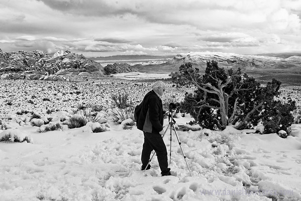 Ansel Adams preps for a shot with his new digital SLR.