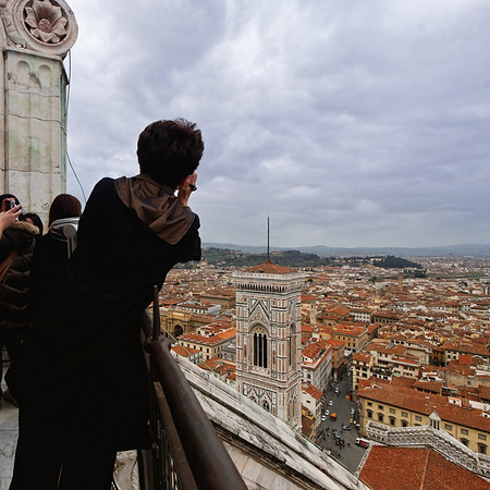 View from the top of the Duomo.