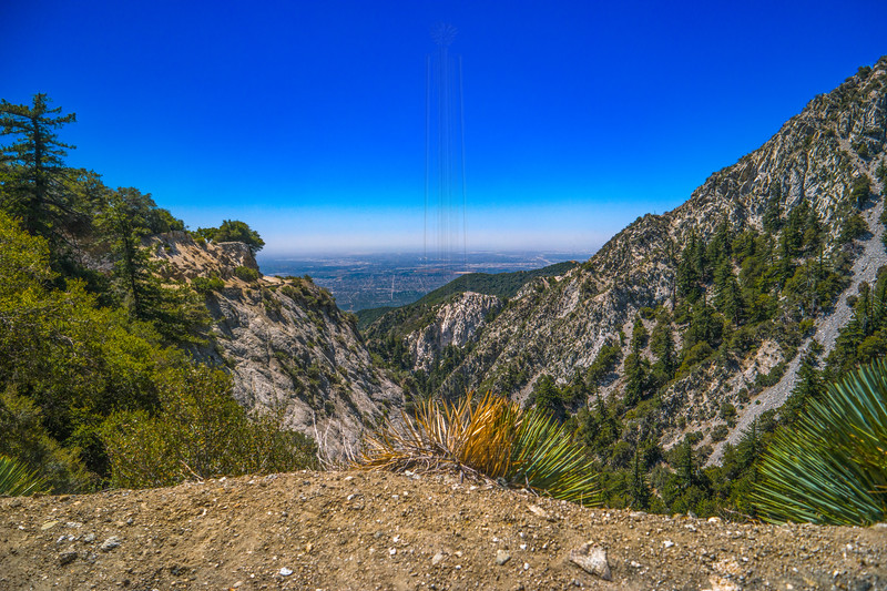 The LA Basin from the Mt. Lowe Road.
