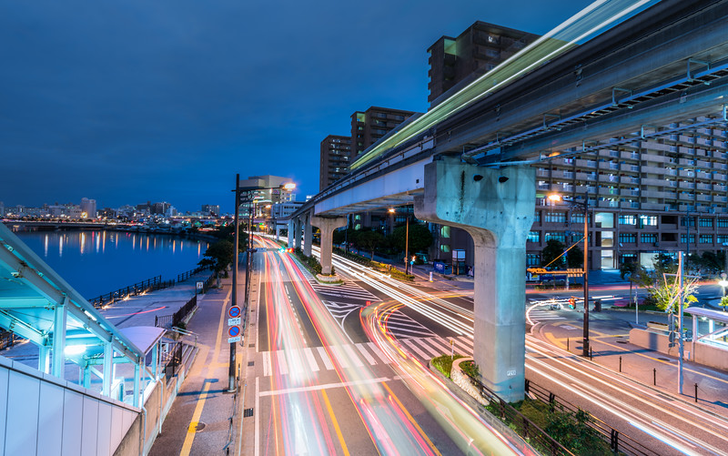 Light Trails through Naha