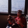 dad relaxing at lake georg