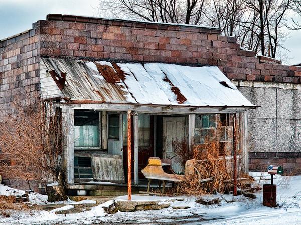 Old Brick Building Seneca County, Ohio