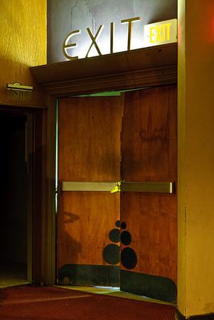 Exit Door Crump Theater  Columbus, Indiana
