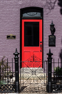 Red Door on Historic Home