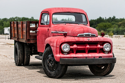 1952 Red Ford Truck